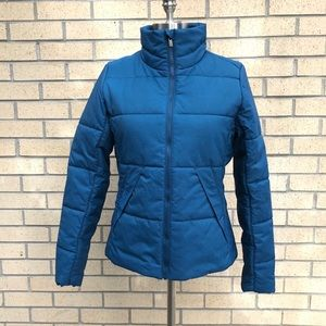 Lucy puffer zip up jacket blue size Small